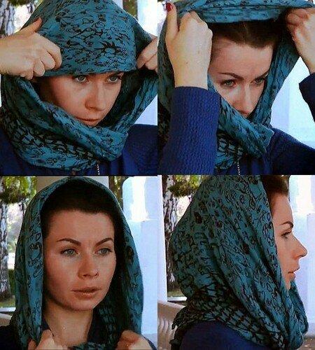 Фото как одеть красиво платок на голову