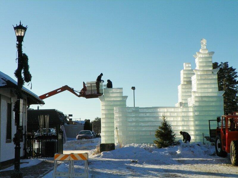 Ледяная крепость.