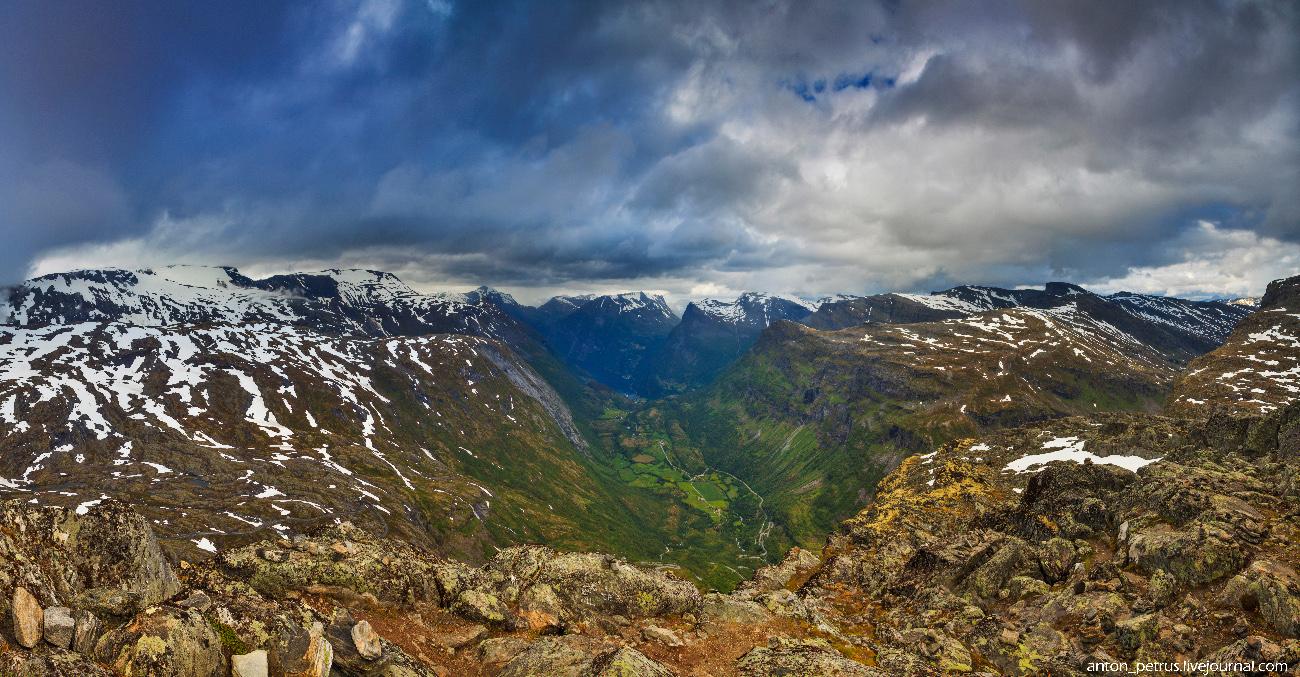 Гора Далснибба и Гейрангер-фьорд