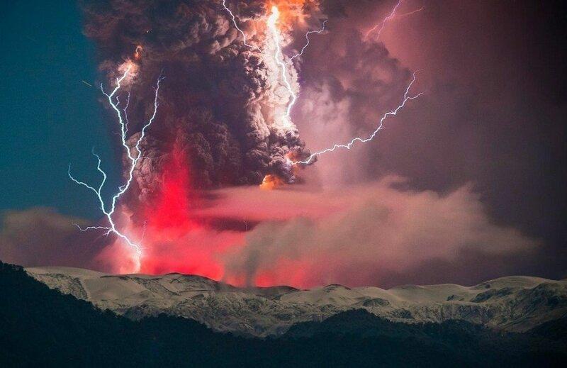 Фотографии извержения вулкана Cordon Caulle