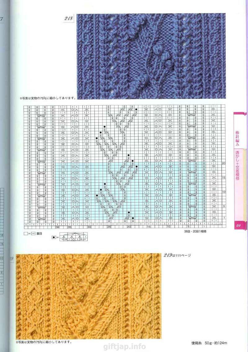250 узоров вязания спицами