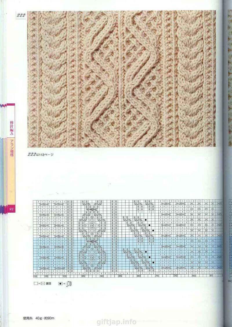 Вязанные жгуты схемы спицами: 32 варианта с. - Вязание 87