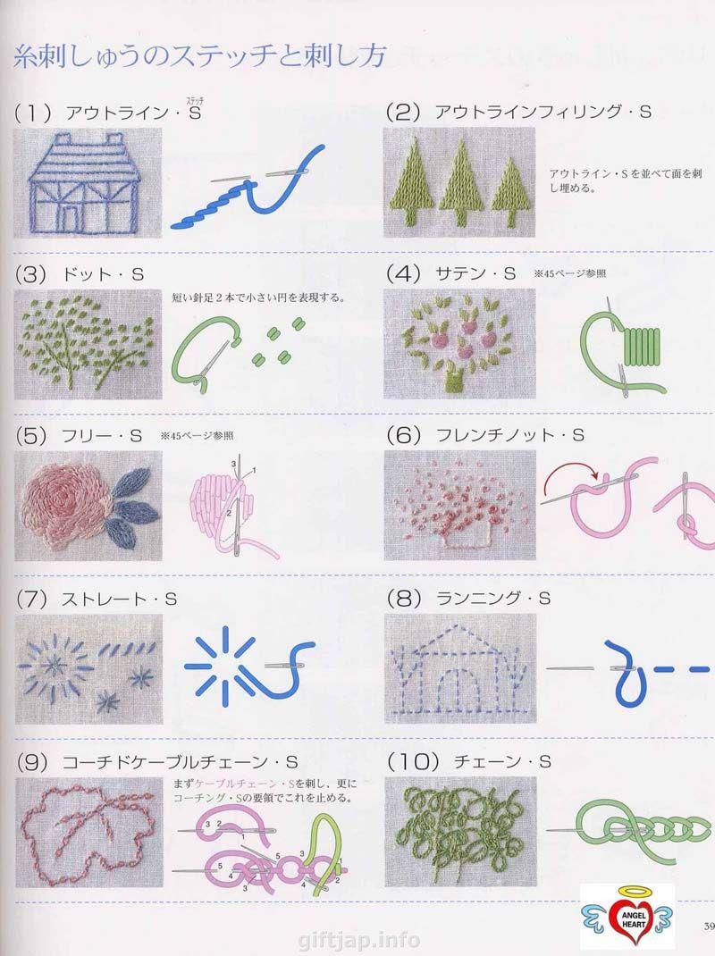 Японские книжки вышивка гладью