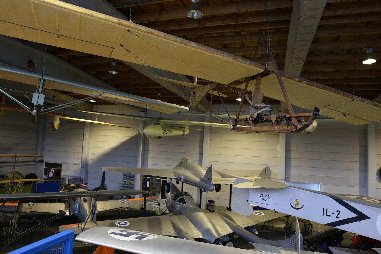 Helsinki-Vantaa Air Museum. Glider Grunau 9 G-36