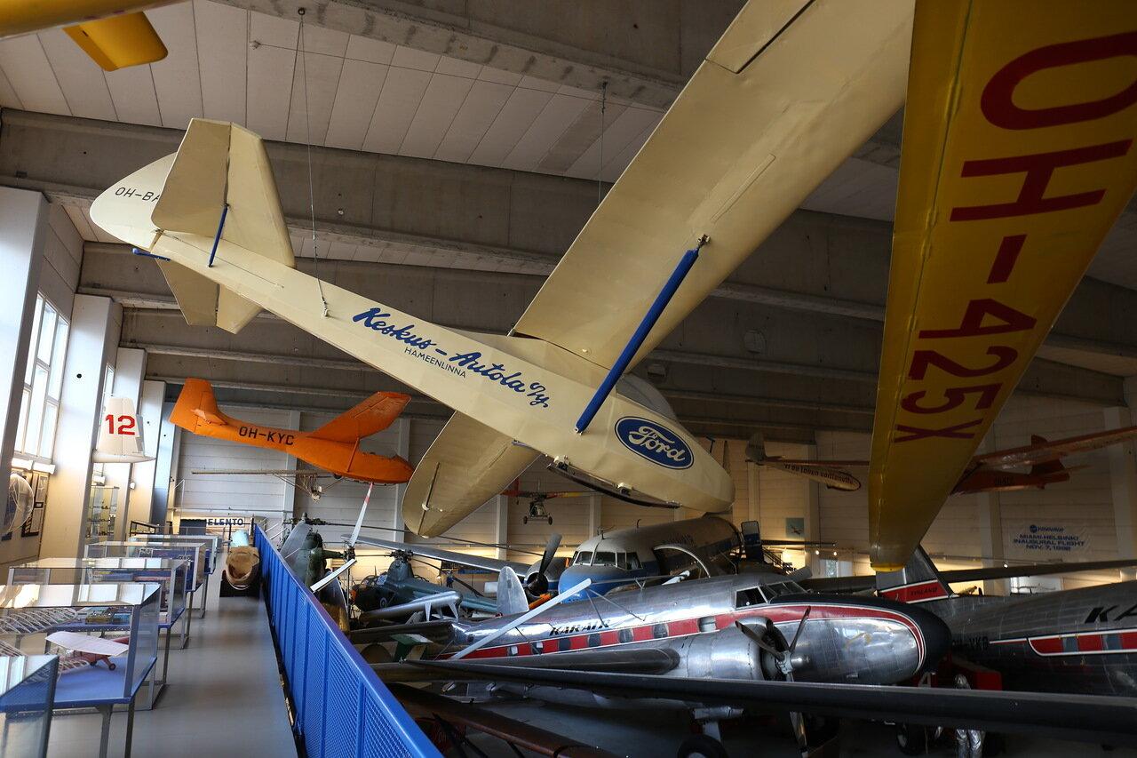 Helsinki-Vantaa Air Museum. Glider the Schneider Grunau Baby II