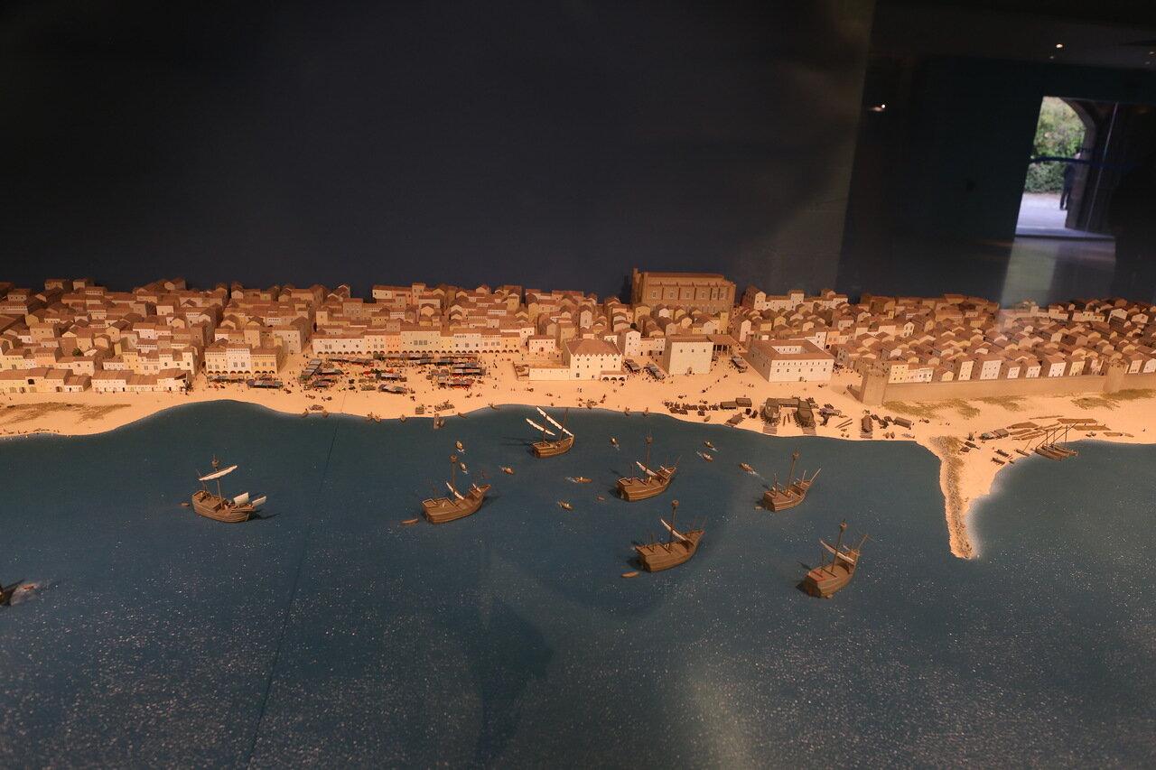 Морской музей Барселоны. Макет порта и крепости Барселона