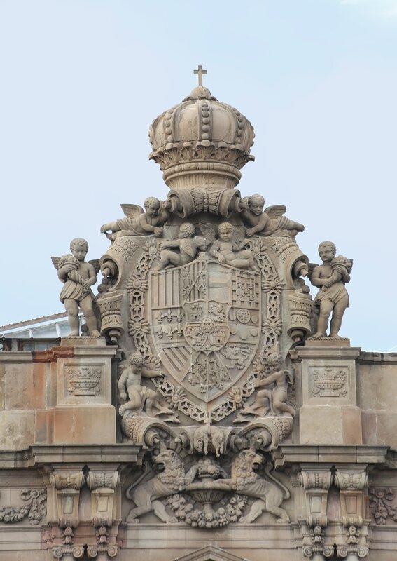 Barcelona. The promenade Moll de la Fusta. The building of the Telegraph