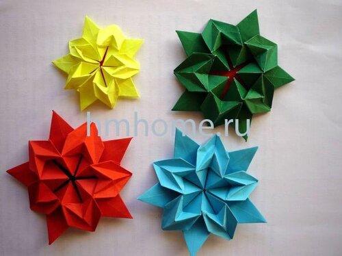 Оригами звезда Sakura Star.