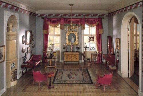 Гостиная в стиле бидермейер, Германия,  1815-1850