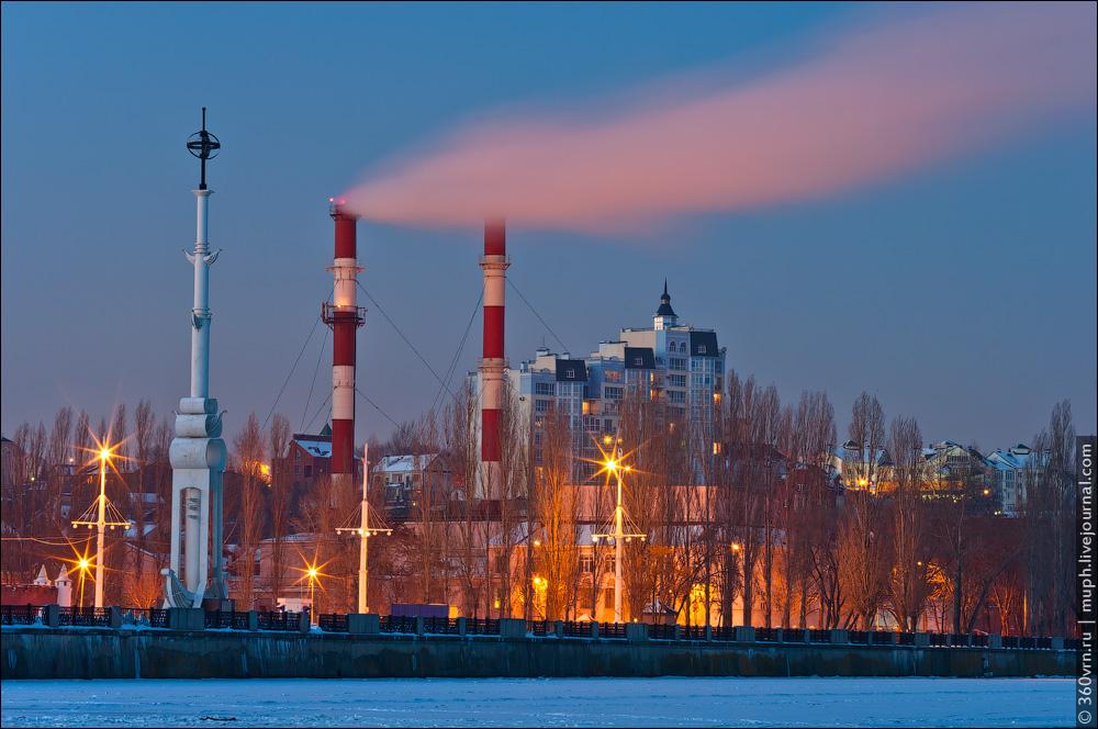 Воронеж зимой фото Адмиралтейская площадь