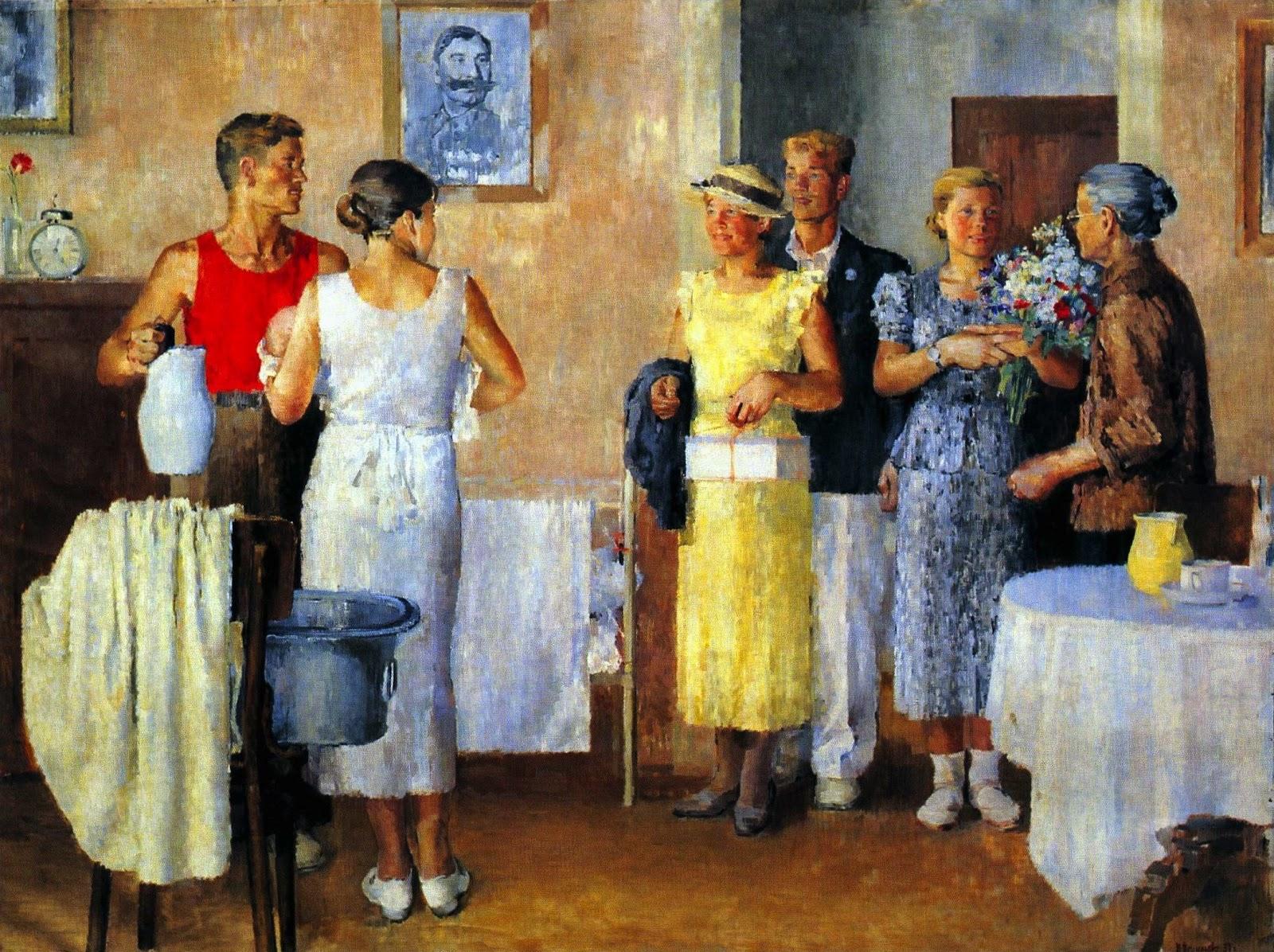 Ебля русской женщины на кухне с пьяным мужем