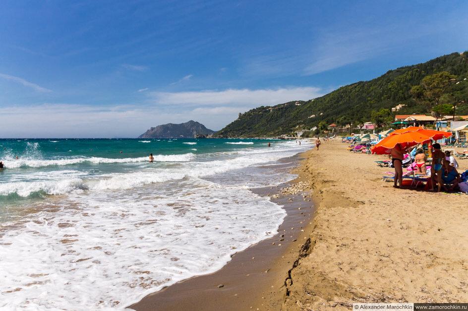 Пляж Агиос Гордиос, Корфу, Греция