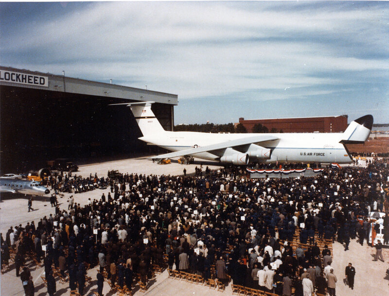 Rollout of the first C-5A March 2 1968