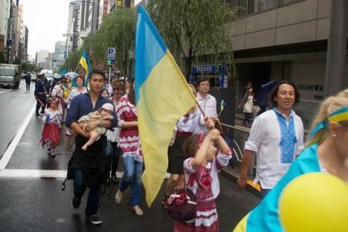 Ще не вмерла Україна в Токио.
