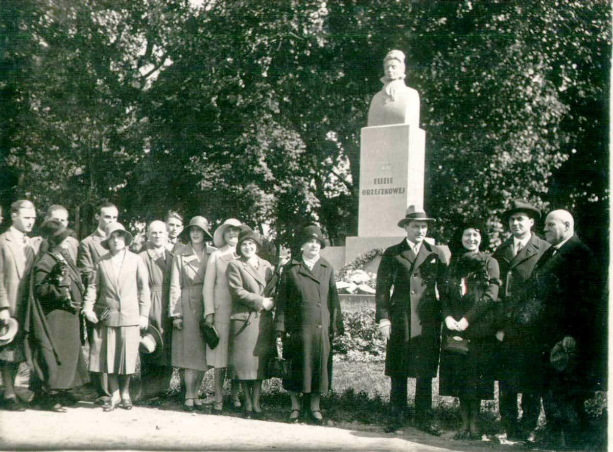 Открытие Памятника Элизе Ожешко в городском парке