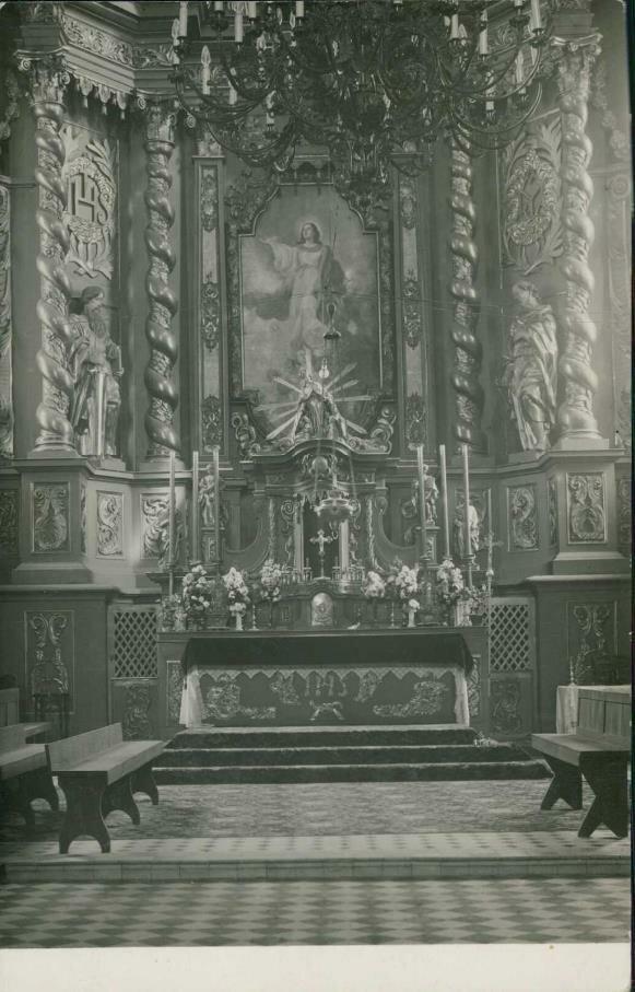 Интерьер собора, алтарь