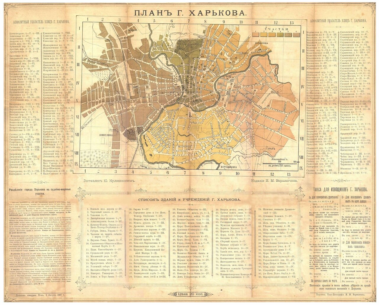 1887. План Харькова