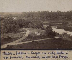 Вид с балкона в Крупках