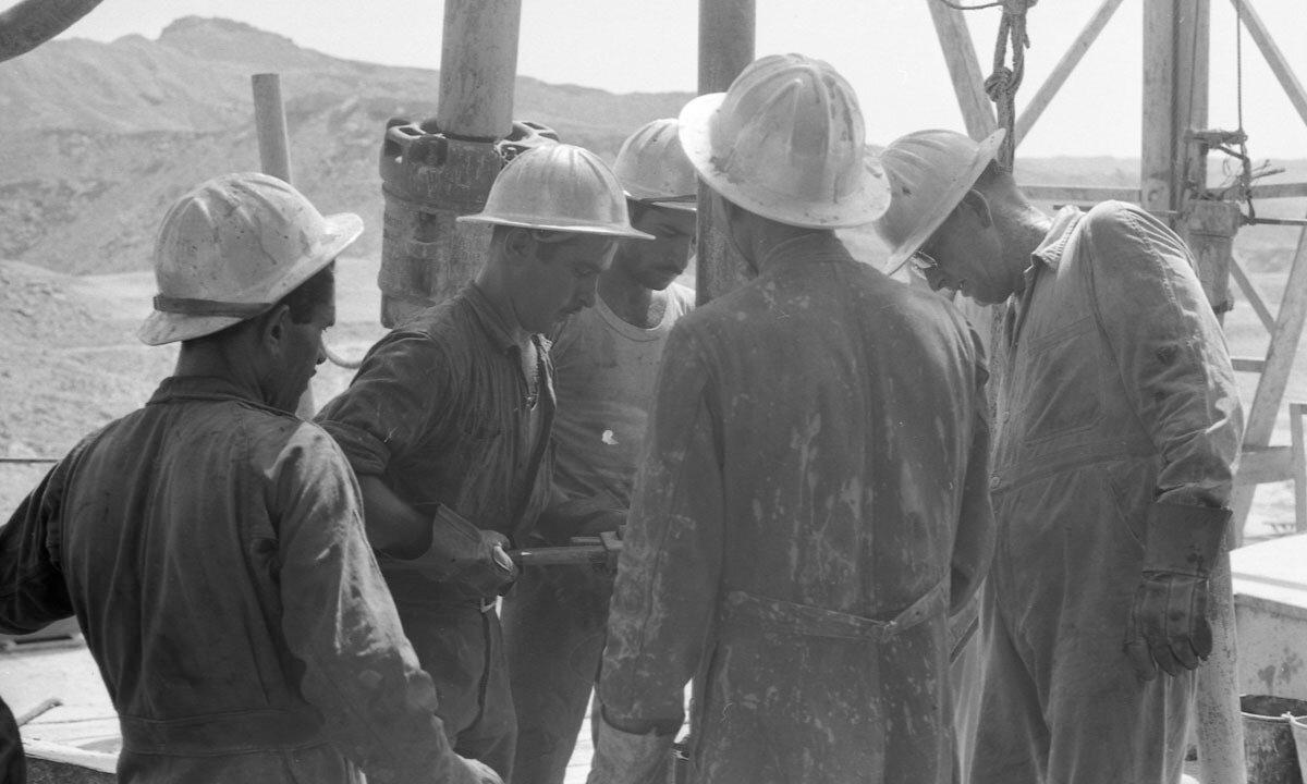 48. Работники нефтяной промышленности, Иран, 1958