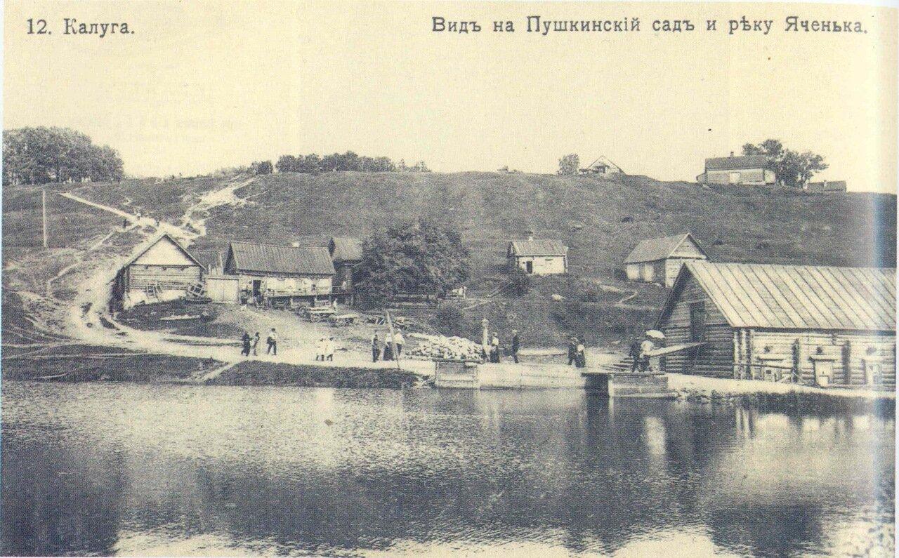 Вид на Пушкинский сад и речку Яченку