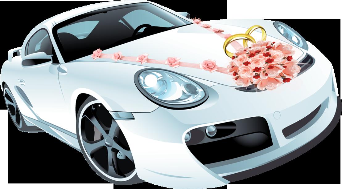 картинка свадебная машина рисунок редко
