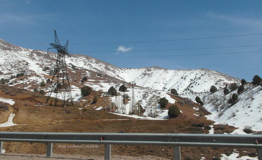 Заснеженный перевал Камчик