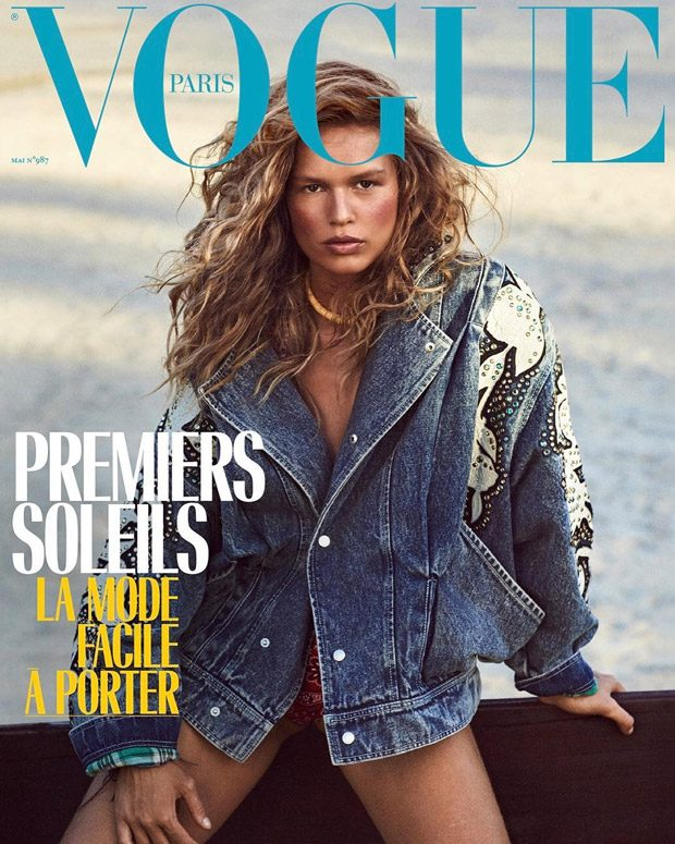 Anna Ewers is the Cover Girl of Vogue Paris May 2018 Issue (2 pics)