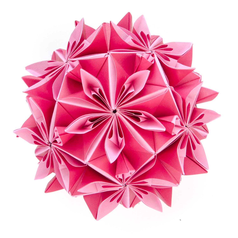Elaborate Paper Origami Tessellations and Kusudamas by Ekaterina Lukasheva