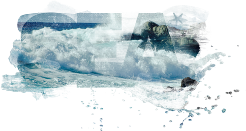 Море – фоны на прозрачной основе