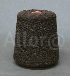 Nardi Filati BOTTONATO коричневый с карамельными темно-коричневыми и темно-голубыми крапушками