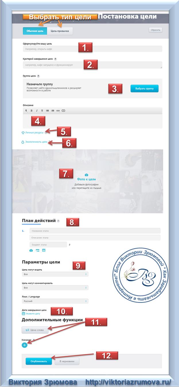 Как создать цель на сервисе SmartProgress