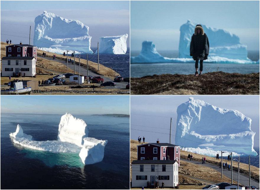 Огромного айсберг вызвал ажиотаж в канадской деревне