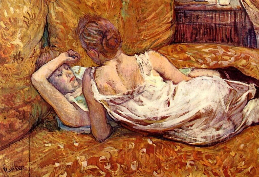 Devotion - the Two Girlfriends - 1895 - PC - Painting - oil on cardboard.jpg