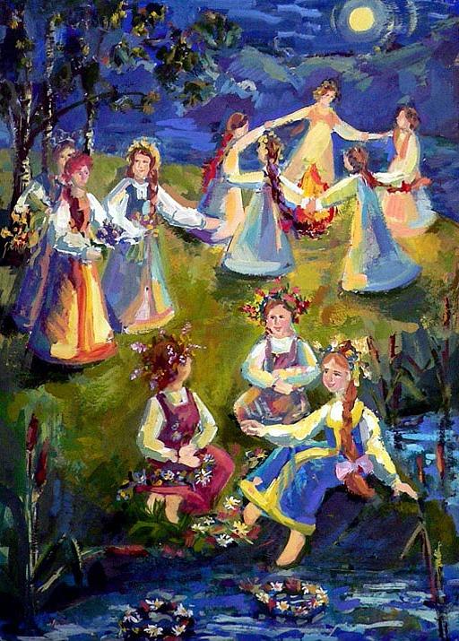 В ночь на Ивана Купала открытки фото рисунки картинки поздравления