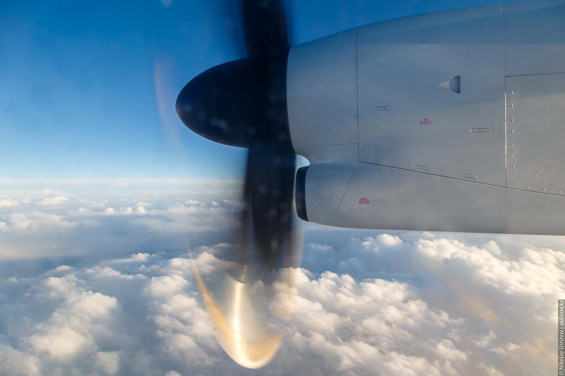 Первый рейс Qazaq Air на самолете Bombardier в Кызылорду
