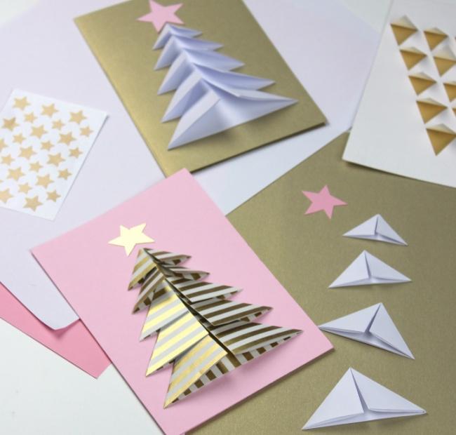 40чудесных новогодних открыток, которые можно сделать изтого, что под рукой (38 фото)
