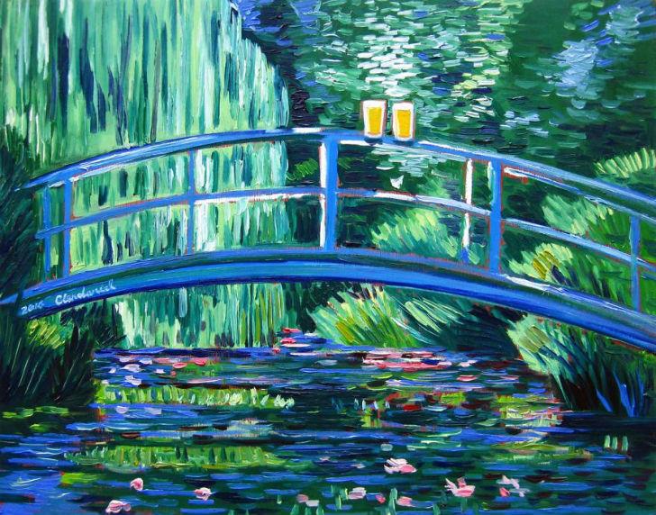 Клод Моне «Пруд с водяными лилиями».