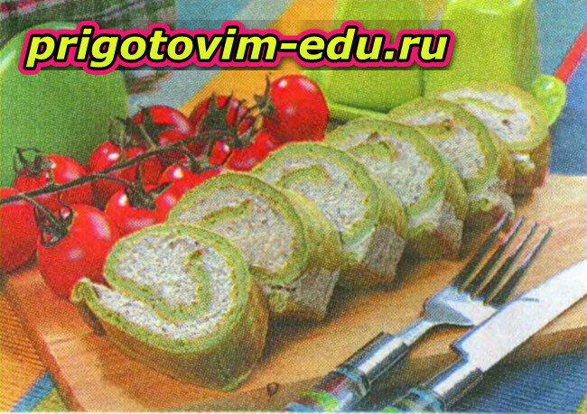 Закусочный рулет с брокколи