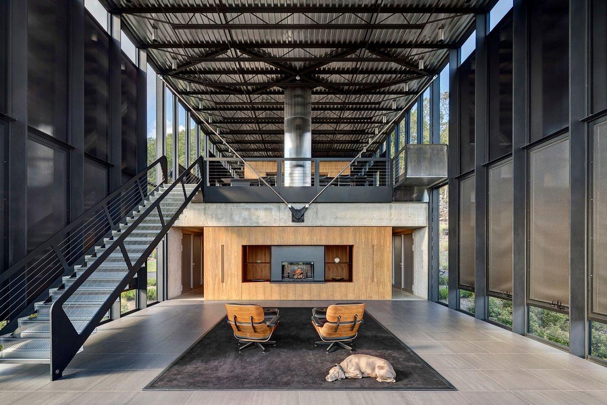 Shokan House, Jay Bargmann, дом в лесу фото, дом посреди леса фото, дом с видом на лес фото, дом из стекла фото, стеклянный фасад частного дома фото