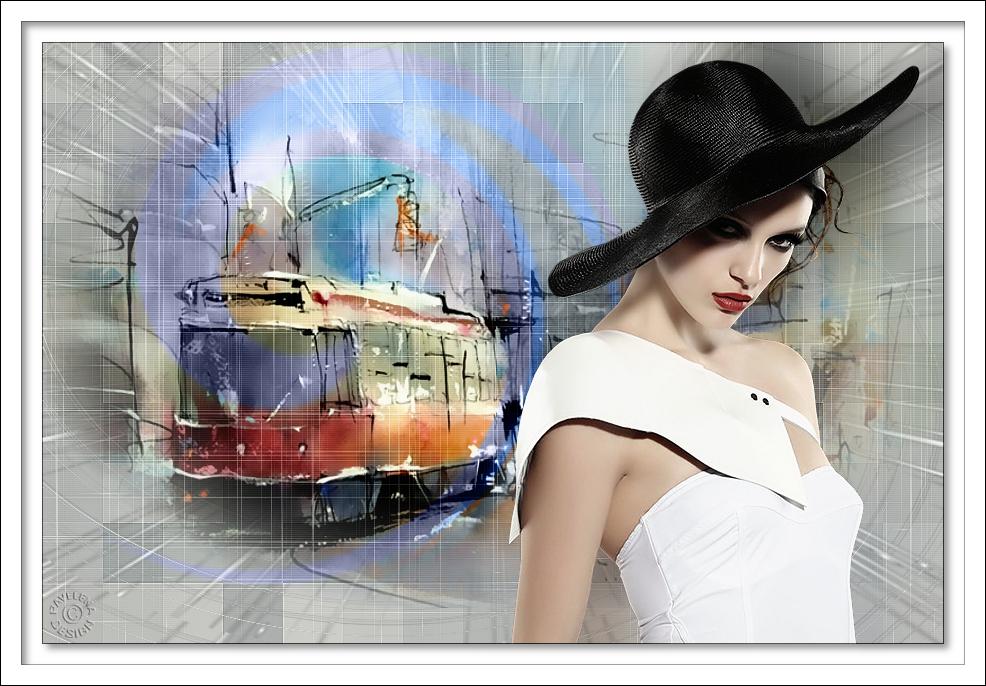 Ждёт прелестница трамвая