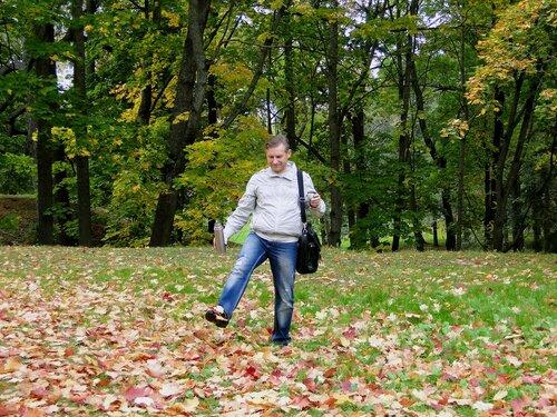 На прогулке по Петергофу