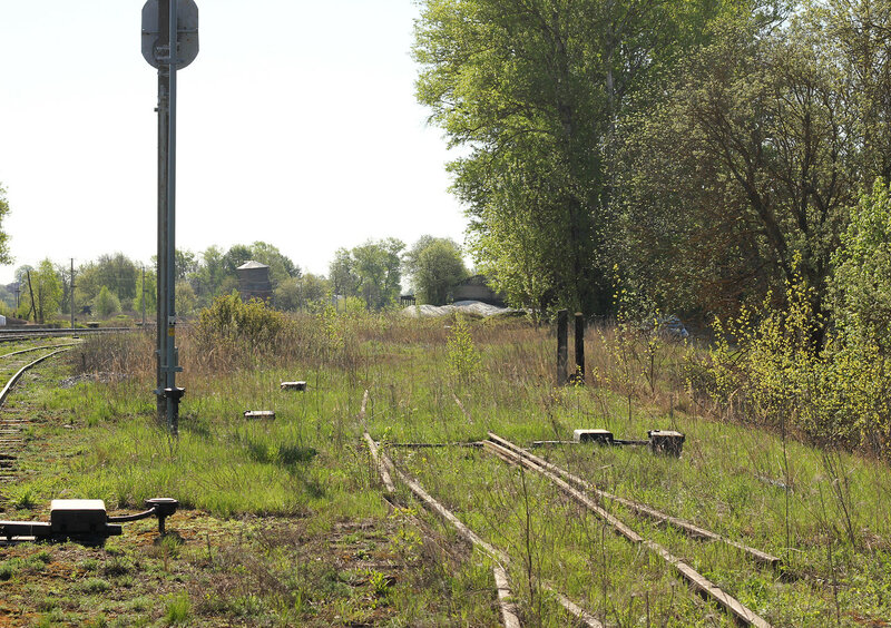 Заброшенный подъездной в ржеской горловине станции Зубцов, вид от Ржева