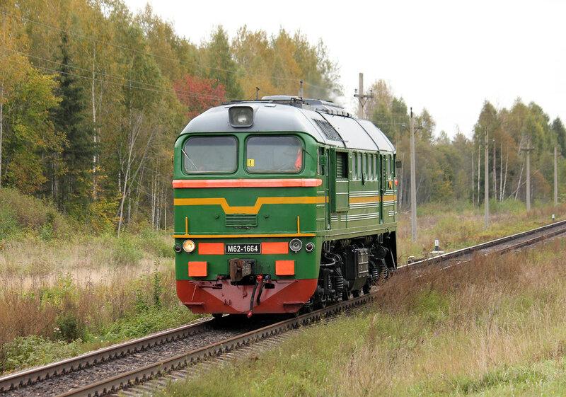 М62-1664 на перегоне Подсосенка - Земцы