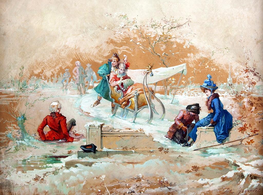 Французский художник Jules Girardet (1856 - 1938)