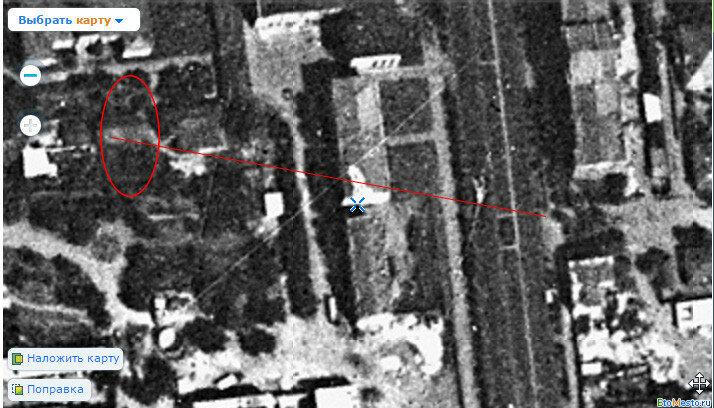 Спутниковый снимок Омска 1966 года колесо обозрения в городском саду 2.jpg