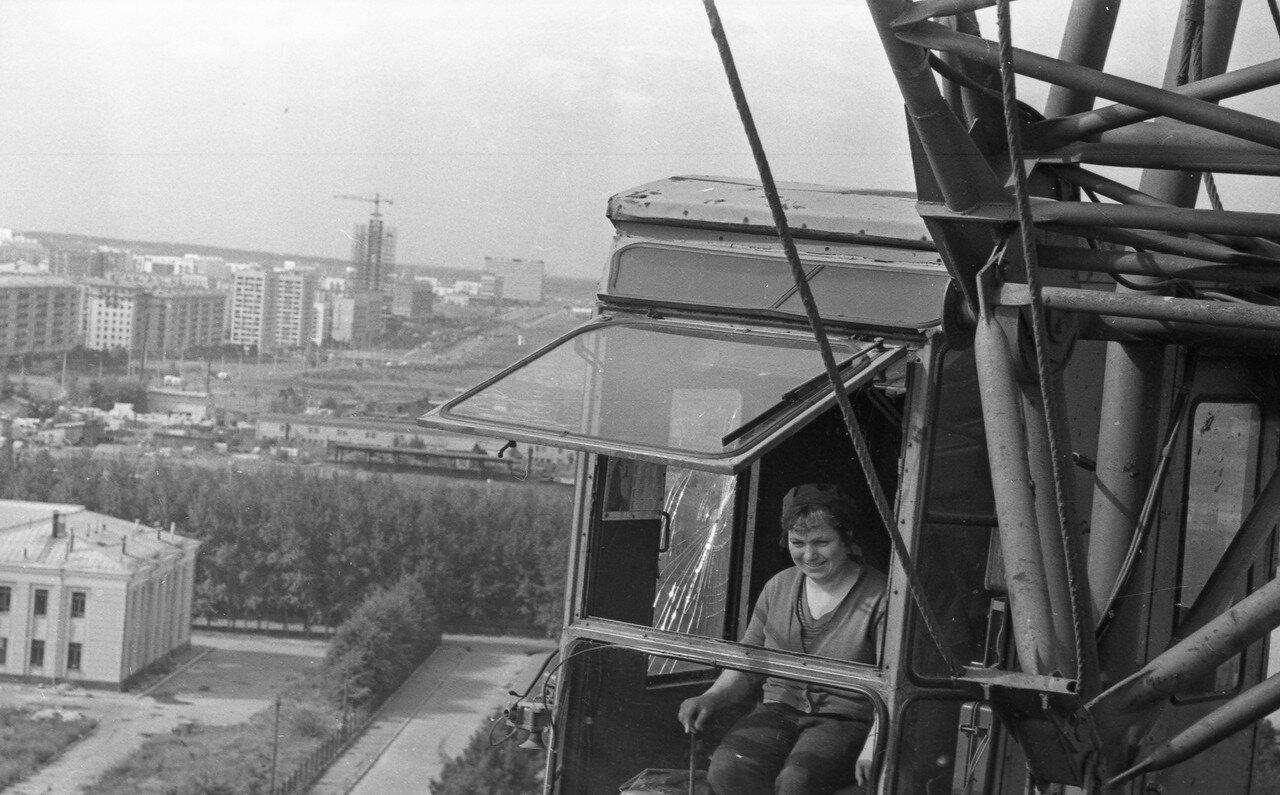 1969. Вид на проспект Вернадского от микрорайона Ленинские горы