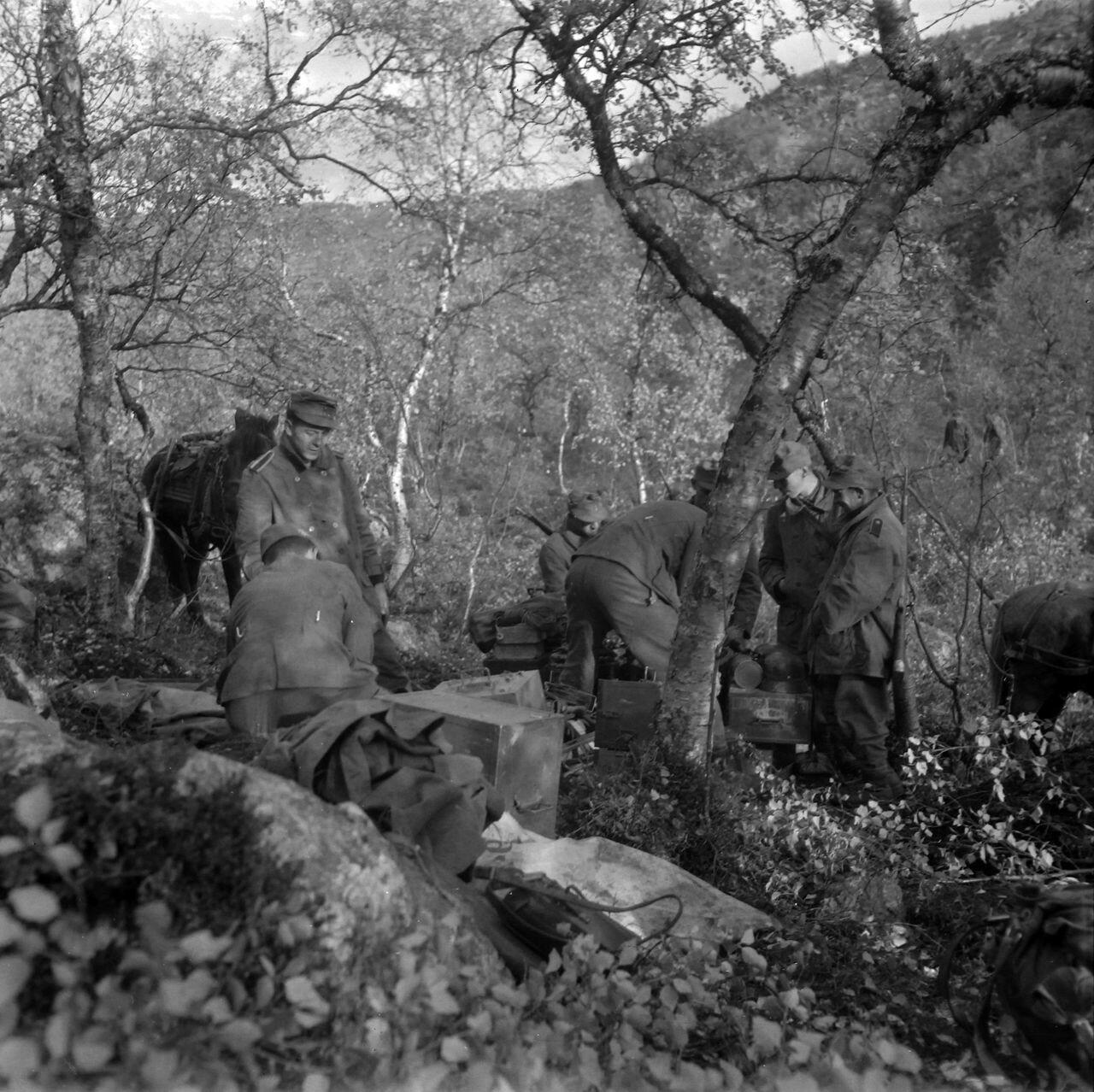 Палаточный лагерь немецких солдат
