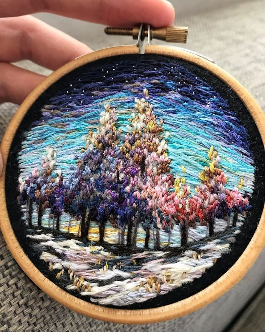 Lovely Landscape Embroidery (4 pics)