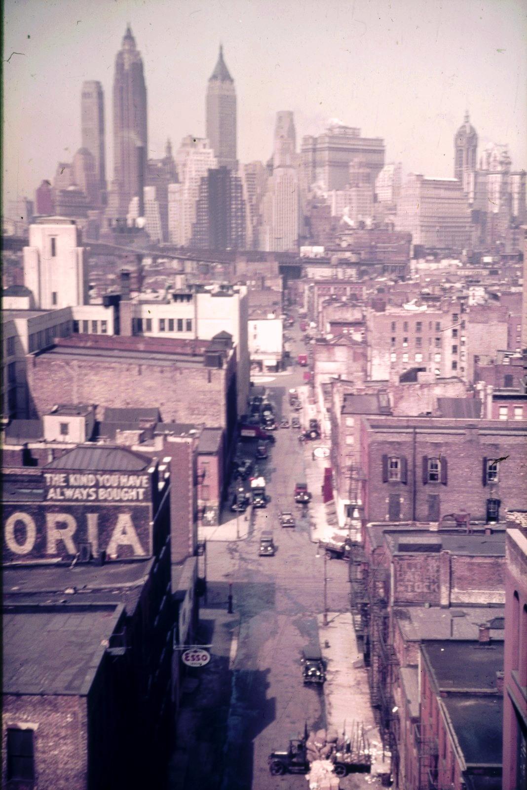 Нью-Йорк. Вид на  Манхэттен