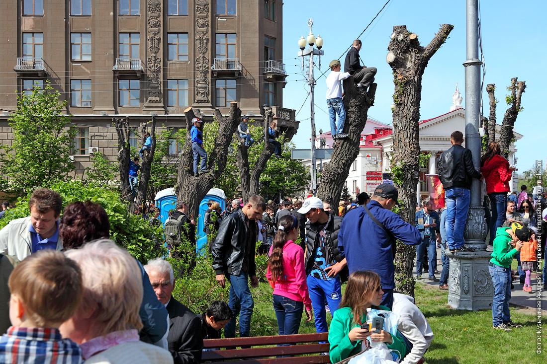 парад в Волгограде в честь празднования Дня Победы 9 мая